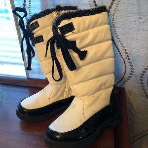 Totes Black & White Snow Boots Size 11